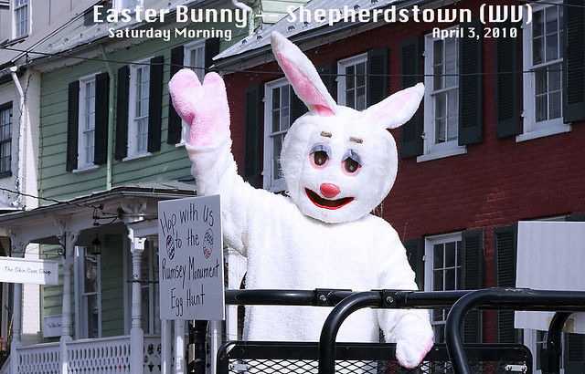 Easter Bunny -- Shepherdstown (WV) Saturday Morning April 3, 2010