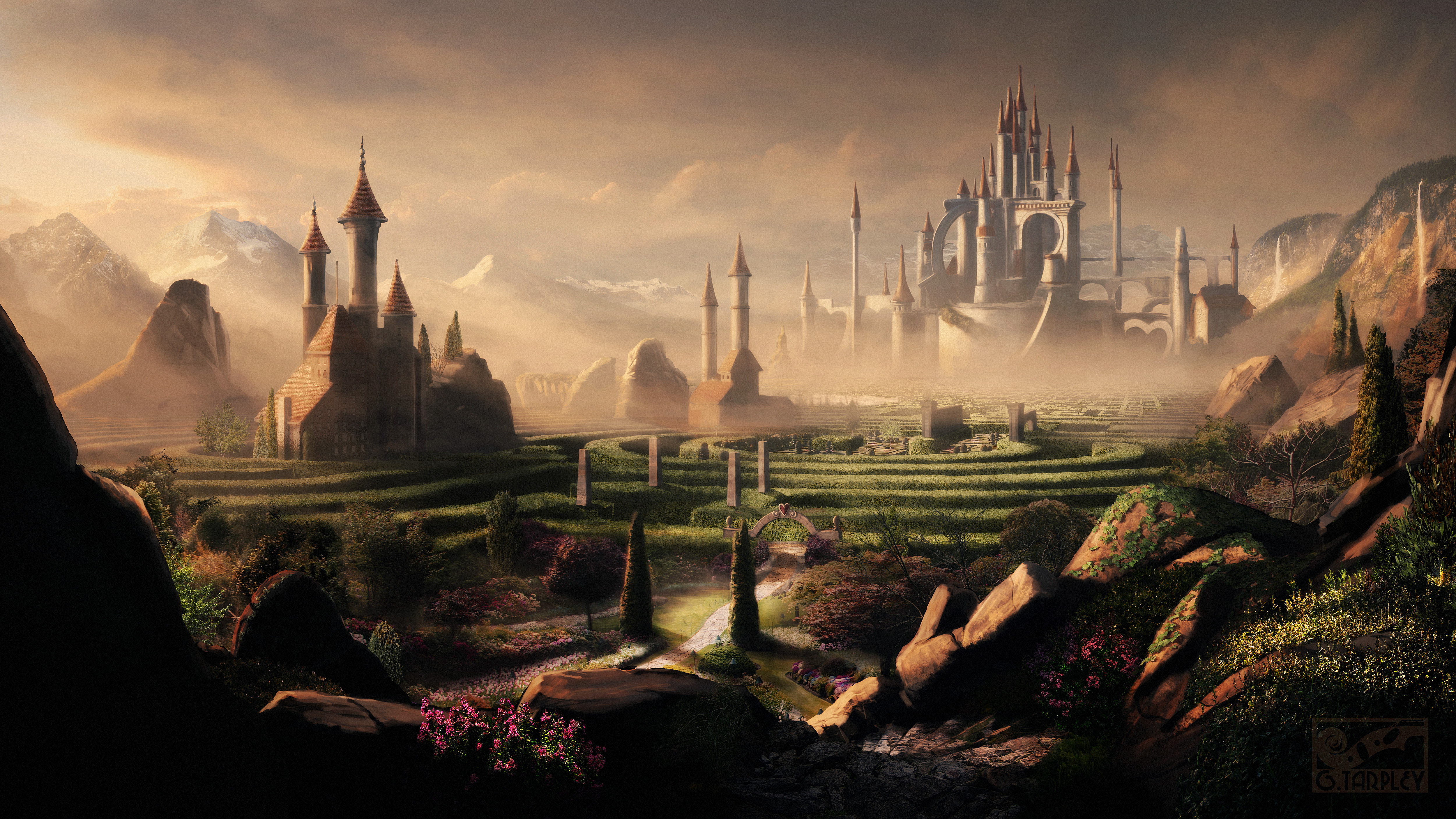 Cgchannel april 2010 matte painting flickr photo sharing for Matte painting
