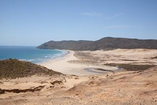 Image of Sandy beach. newzealand sky beach water sand bluesky northland nzl capemariavandiemen tewerahibeach