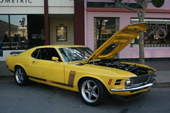 automobile, automotive exterior, boss 302 mustang, wheel, vehicle, stock car racing, automotive design, boss 429, classic car, land vehicle, muscle car, sports car,