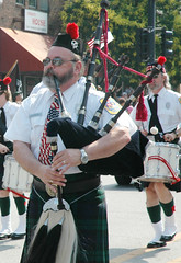 festival, musician, marching, costume, bagpipes, wind instrument,