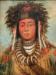 art, tribal chief, painting, head, illustration, portrait, modern art,