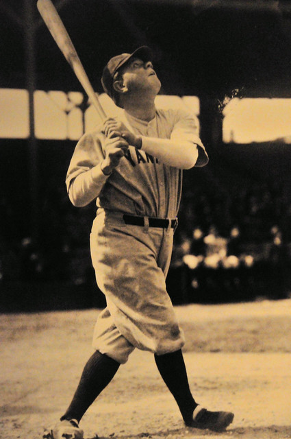 Baltimore - Babe Ruth Museum - Photo Of Babe Ruth Homerun -7536