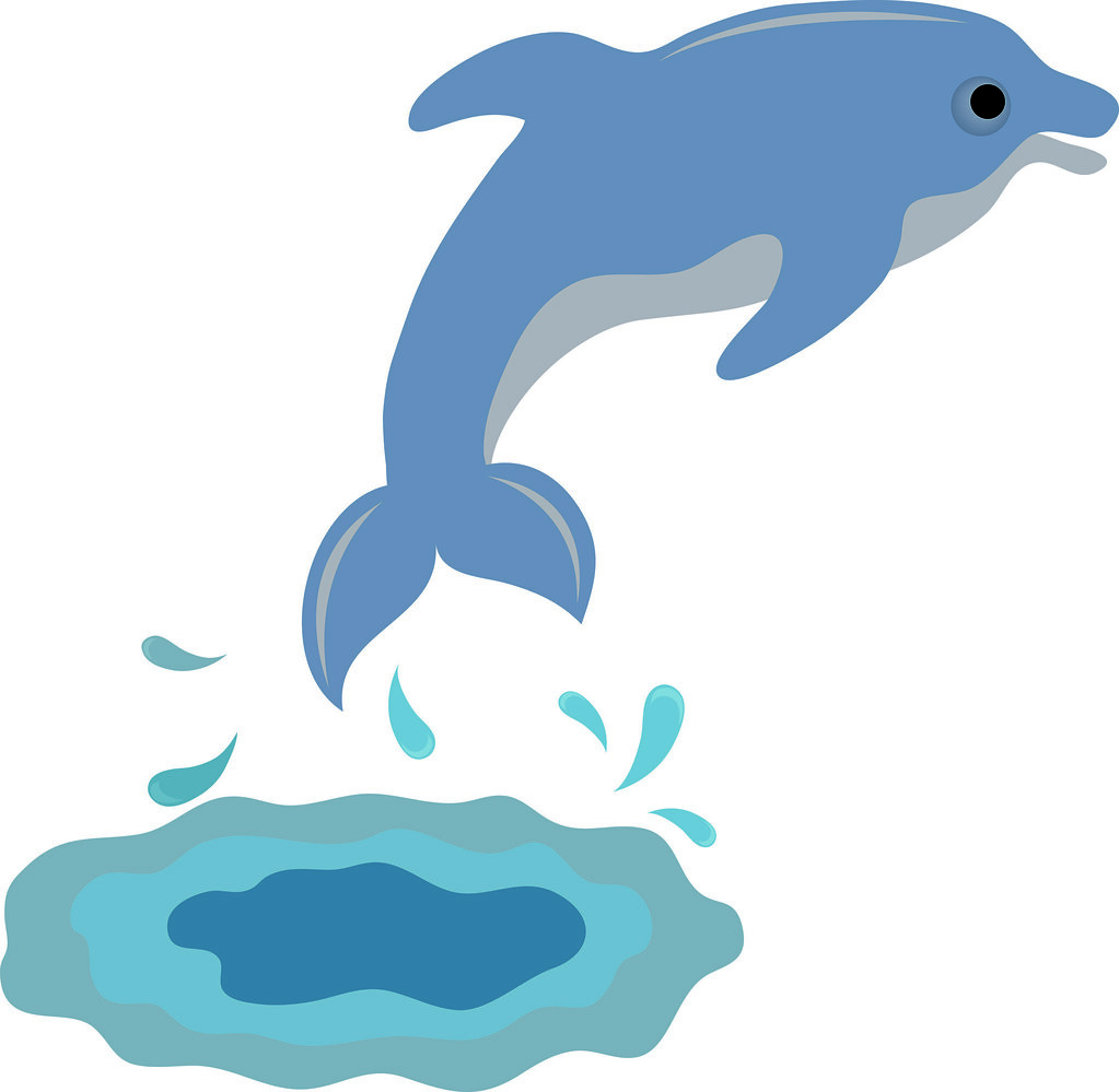 Clip art illustration of a cute dolphin a photo on flickriver