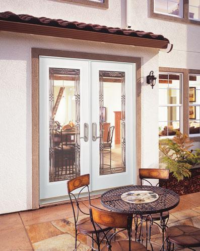 Feather River Door Fiberglass Patio Doors Smooth White