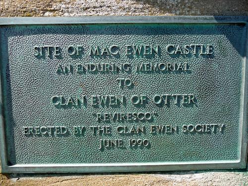 Mac Ewen Castle Plaque