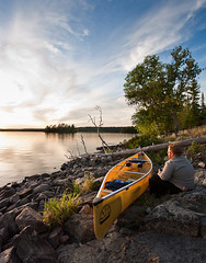 Great spot to park a canoe, in Boundary Waters Canoe Area Wilderness