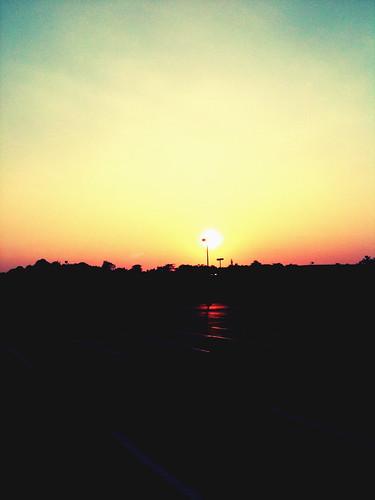 light sunset shadow sky sun nature weather silhouette june dark evening parkinglot darkness outline camerabag sumer iphone iphoneography