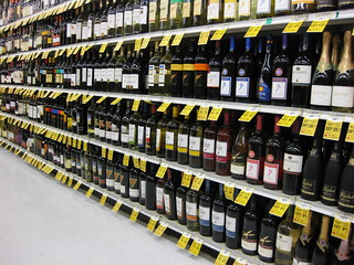liquor at the grocery store