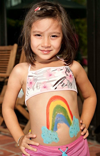Kid my girl with body paint flickr photo sharing for Body paint girl photo