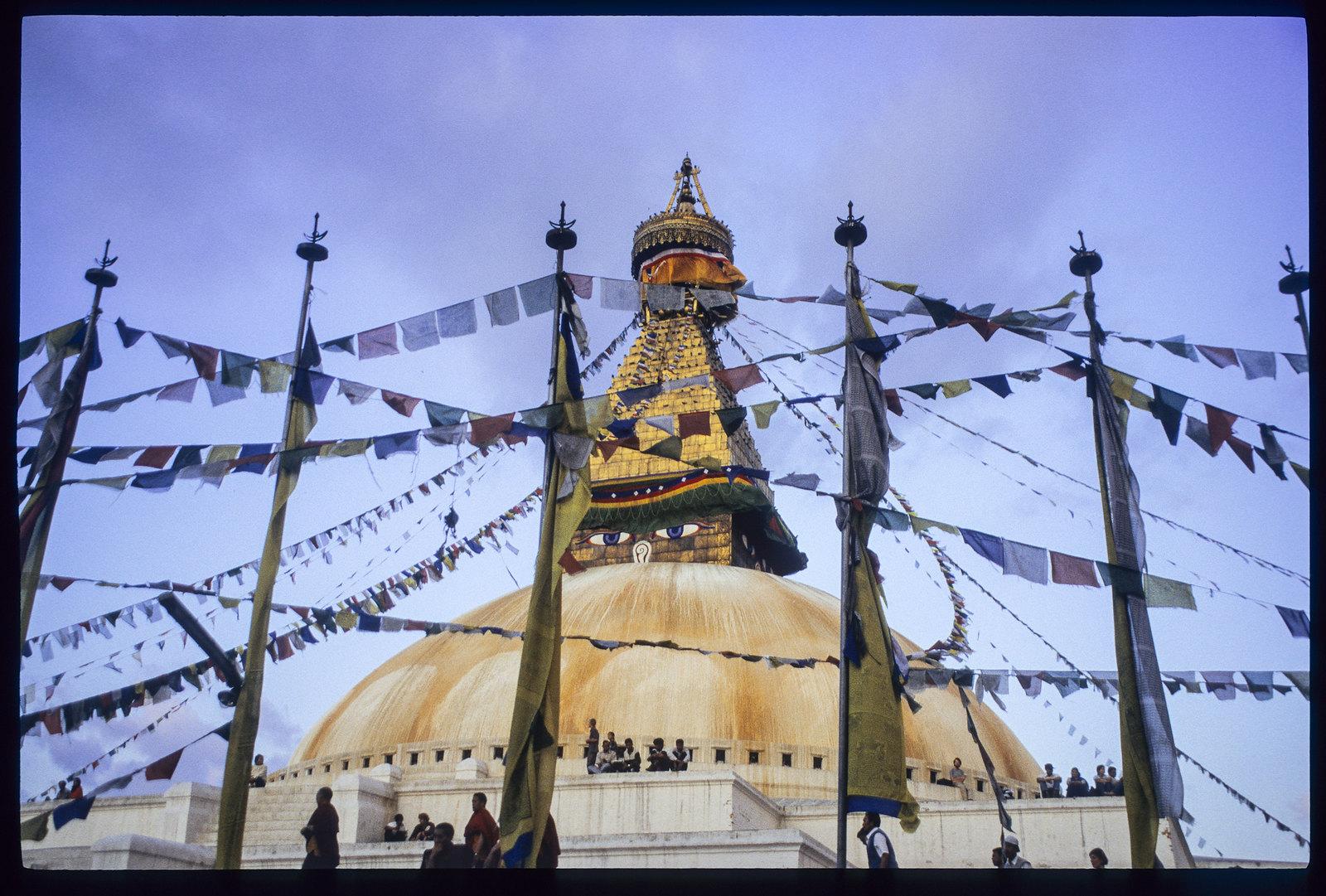 Bodnath temple, sous les yeux du boudha - Le stupa de Boudhanath