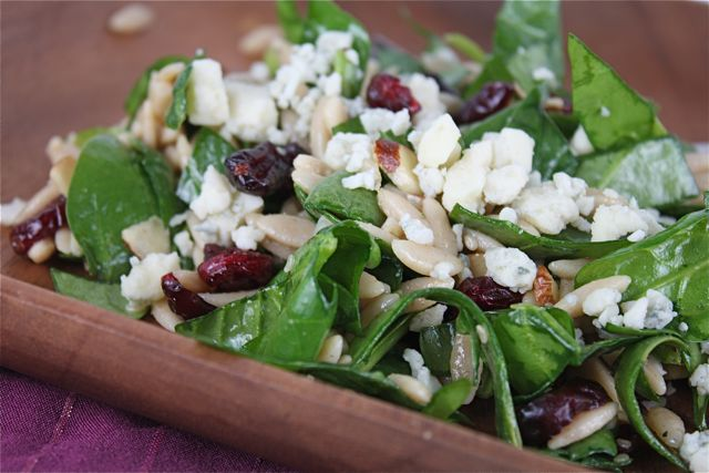 Spinach and Orzo Salad with Cranberries and Almonds | Flickr - Photo ...