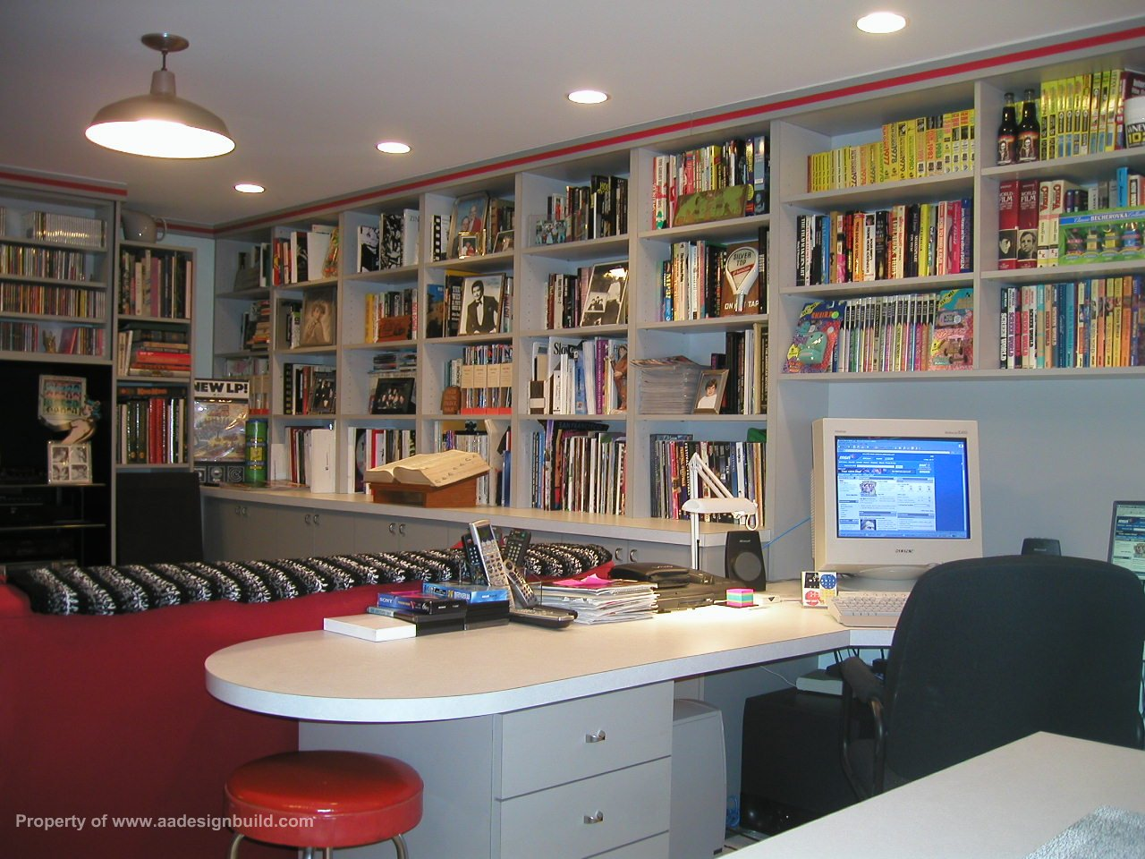 Film critic 39 s home office finished for Office design book