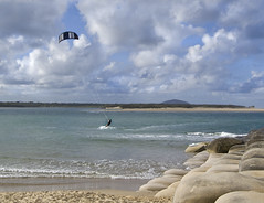 The photo above shows kite surfing at Maroochydore, one of the many popular water sports available in the area.