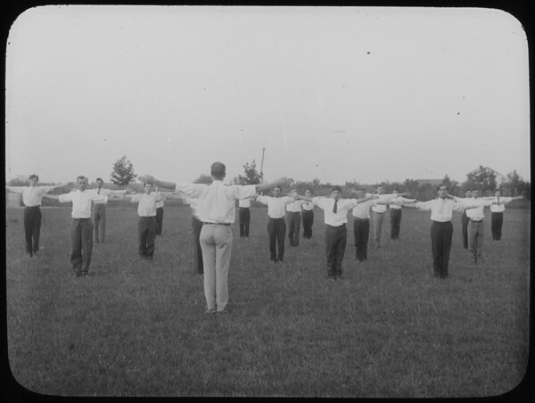 Pupils drilling (calisthenics) at the Woodbine Agricultural School, New Jersey. from Flickr via Wylio