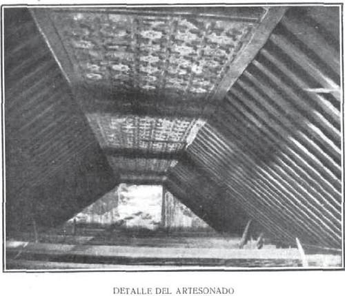 Artesonado de la Iglesia de Santiago del Arrabal descubierto en 1917. Revista la Ilustración Española y Americana