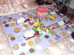 Refreshments - lovely food in Afghanistan
