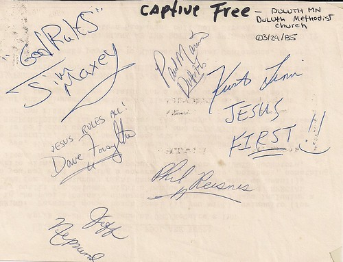 03/29/85 Captive Free @ Duluth, MN (Autographs)