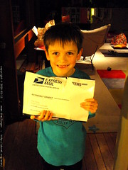 nick got a package from paul & katie, and he hope's …