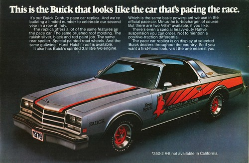 1976 Buick Century Pace Car Replica