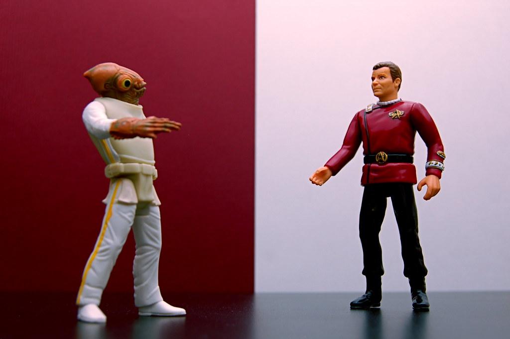 Admiral Ackbar vs. Admiral Kirk (58/365)