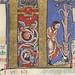 The Hunterian Psalter: Calendar. Historiated 'K' from March.