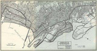 Suburban Lines of the Southern Pacific Co and Key System Transit Co to Accompany Report on Transbay Bridge (1927)