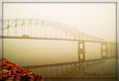 bridge reflection minnesota fog truck river mississippi rocks foggy hastings picnik lightroom a230 us61 abigfave