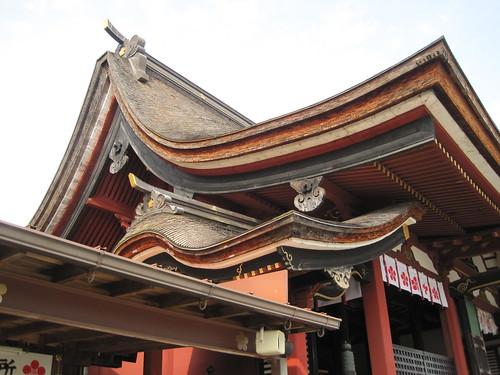 Dächer vom Mizuta-Tenmangu-Schrein in Yanagawa