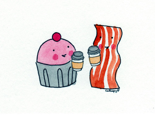 Cupcakes, Coffee, Bacon