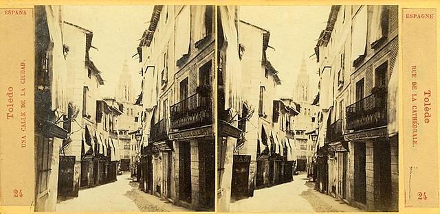 Vista estereoscópica de la Calle ancha hacia 1860 por E. Làmy
