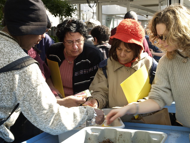 Participants at a hands-on workshop during Making Brooklyn Bloom 2010.