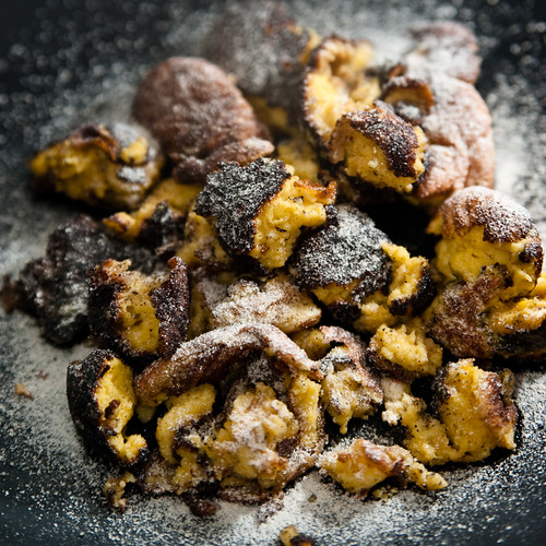 Kaiserschmarrn with home made icing sugar