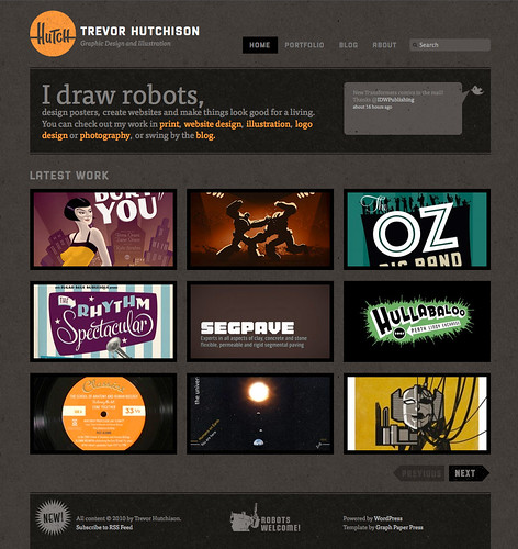 Trevor Hutchison: Grapic Designer portfolio website