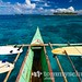 Philippines surf boat trip: Outrigger bangka & surf boards