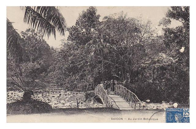 SAIGON - AU JARDIN BOTANIQUE 1906