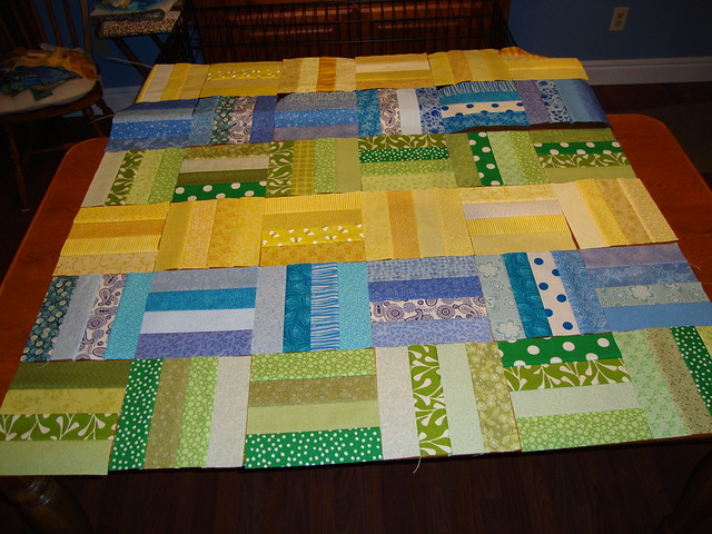 layout of quilt top