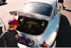 Porsche 356 engine w/ velocity stacks