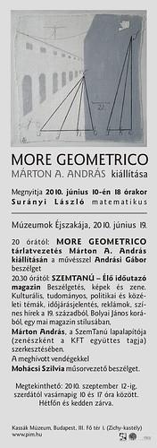 Márton A. András: More Geometrico