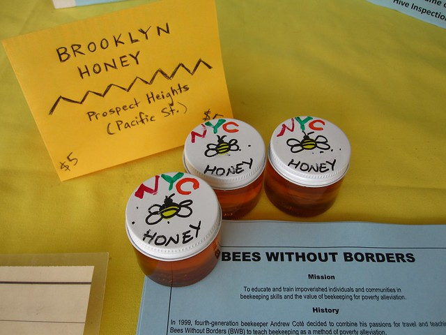 Bees Without Borders sells very local (and very delicious) honey at Bee-Day. Photo by Rebecca Bullene.