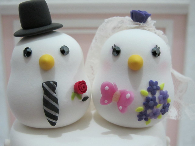 lovely birds cake topper