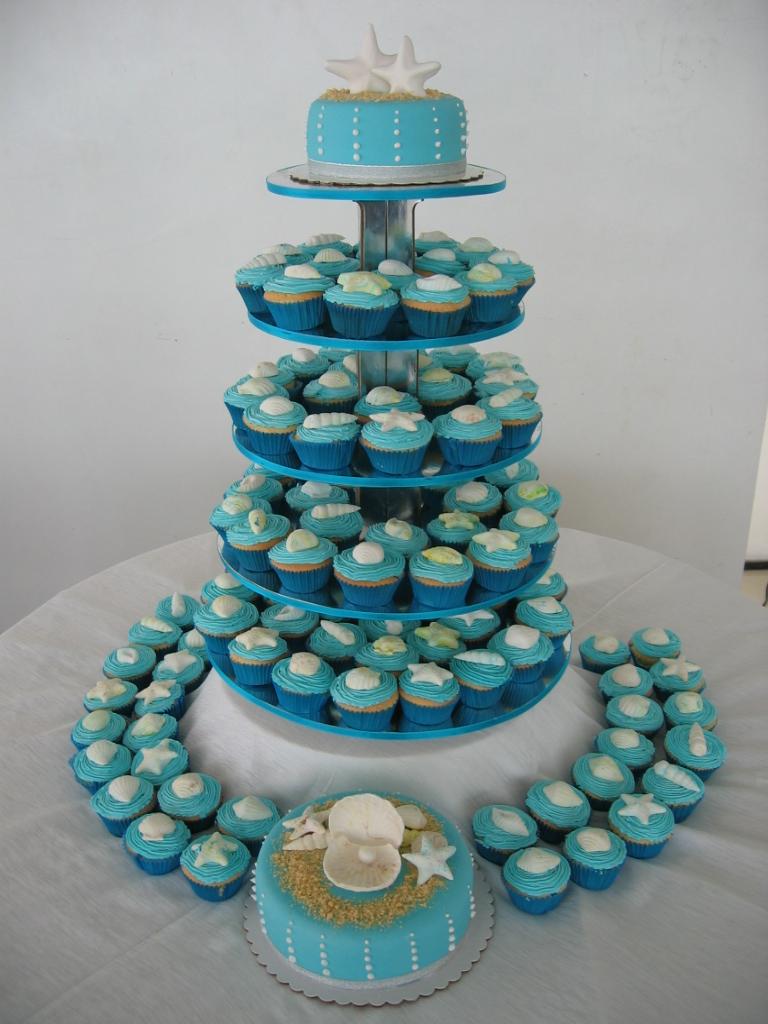 Beach Theme Cupcakes A Photo On Flickriver