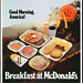 McDonald's - Plastic Signage - Good Morning America Breakfast at McDonalds - 1978