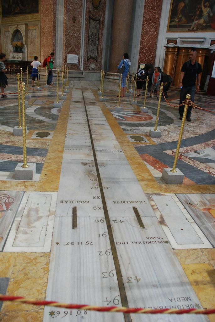Meridiana di Santa Maria degli Angeli - Particolare - Roma