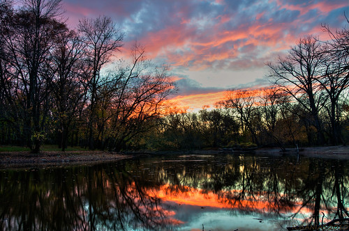 sunset chicago sundown banias d90