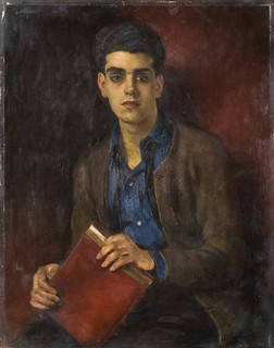 Oil Painting: Portrait of a Young Anglo-Indian Student by William Bruce Ellis Ranken (c1920)