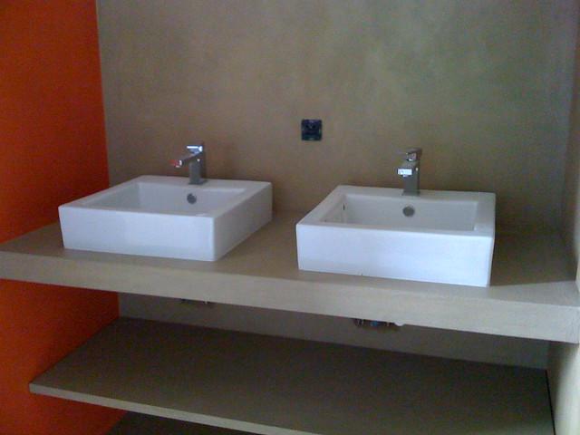 Meuble lavabos salle de bain b ton cir explore yannick - Meuble salle de bain beton cire ...