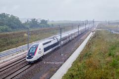 01 juillet 2017 TGV D 863 Train 27257 Paris -> Bordeaux Aubie-et-Espessas (33) - Photo of Marcenais
