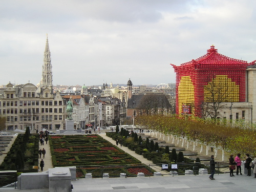 View over Brussels from the Square
