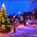 Lymm Cross, Cheshire, at dusk with snow by Hotpix [LRPS]